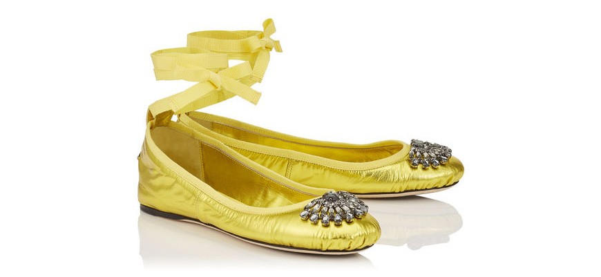 Weddings Ideas by Colour: Yellow Wedding Shoes - The prettiest flats | CHWV