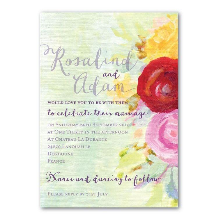 Wedding Ideas by Colour: Yellow Wedding Stationery - Vintage florals | CHWV