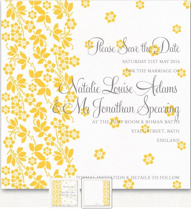 Wedding Ideas by Colour: Yellow Wedding Stationery - Beautiful blooms | CHWV