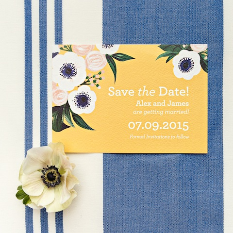Wedding Ideas by Colour: Yellow Wedding Stationery - All about art | CHWV