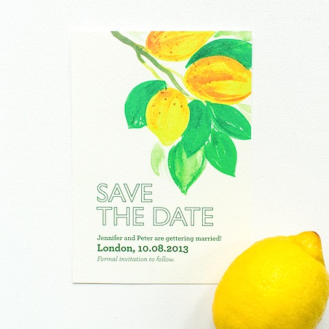 Wedding Ideas by Colour: Yellow Wedding Stationery - Citrus style | CHWV