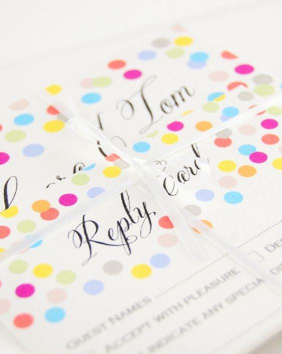 Wedding Ideas by Colour: Yellow Wedding Stationery - Dotty designs | CHWV
