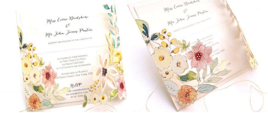 Wedding Ideas by Colour: Yellow Wedding Stationery - Beautiful botanics | CHWV