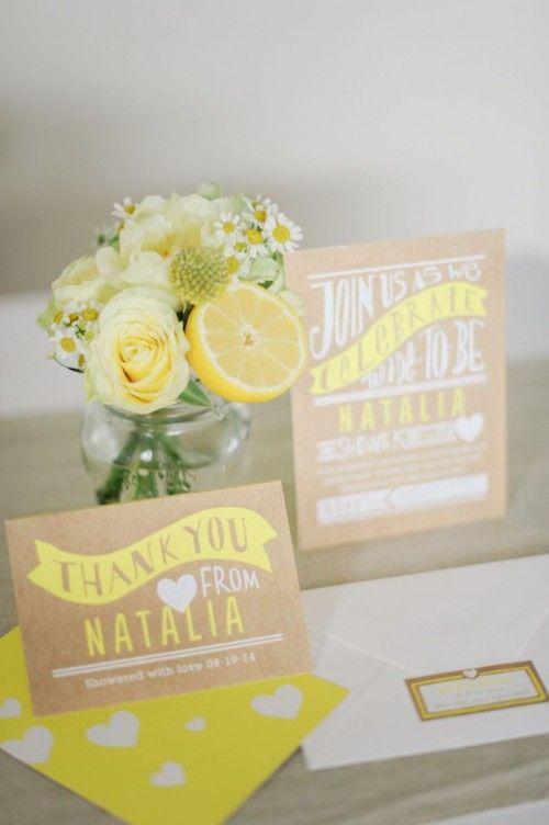 Wedding Ideas by Colour: Yellow Wedding Stationery - For the boho bride | CHWV