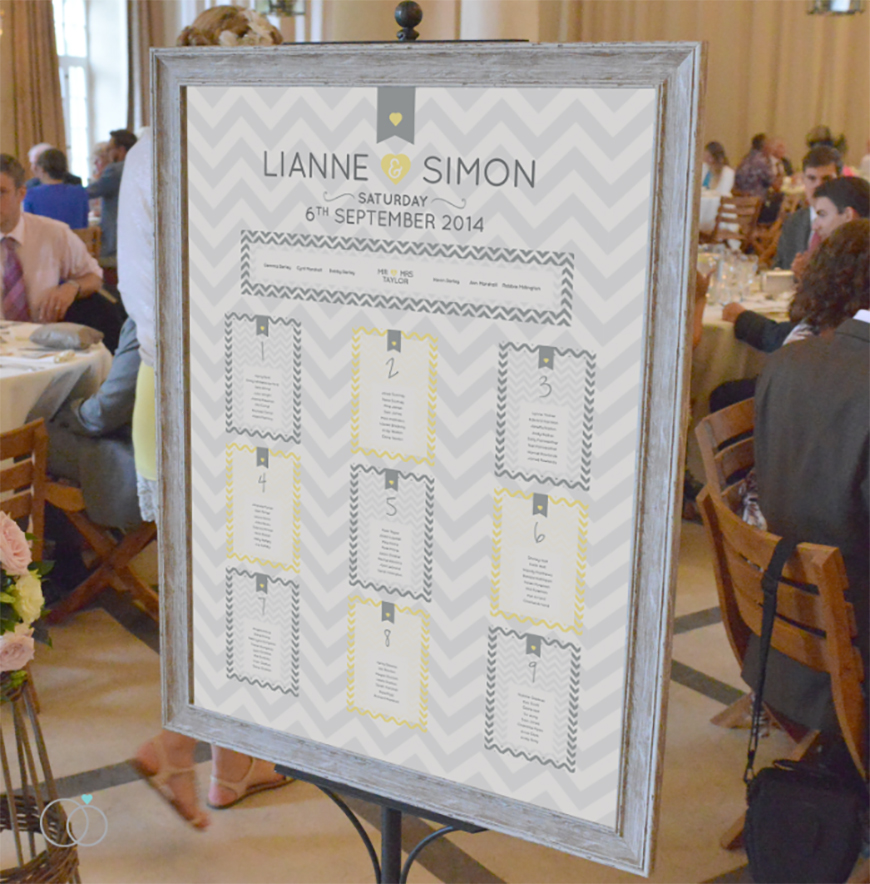 Wedding Ideas By Colour: Yellow Wedding Table Plans - Traditional table plans | CHWV