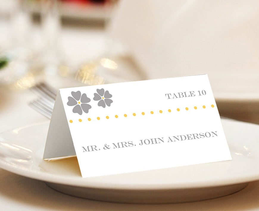 Wedding Ideas By Colour: Yellow Wedding Table Plans - The escort card | CHWV