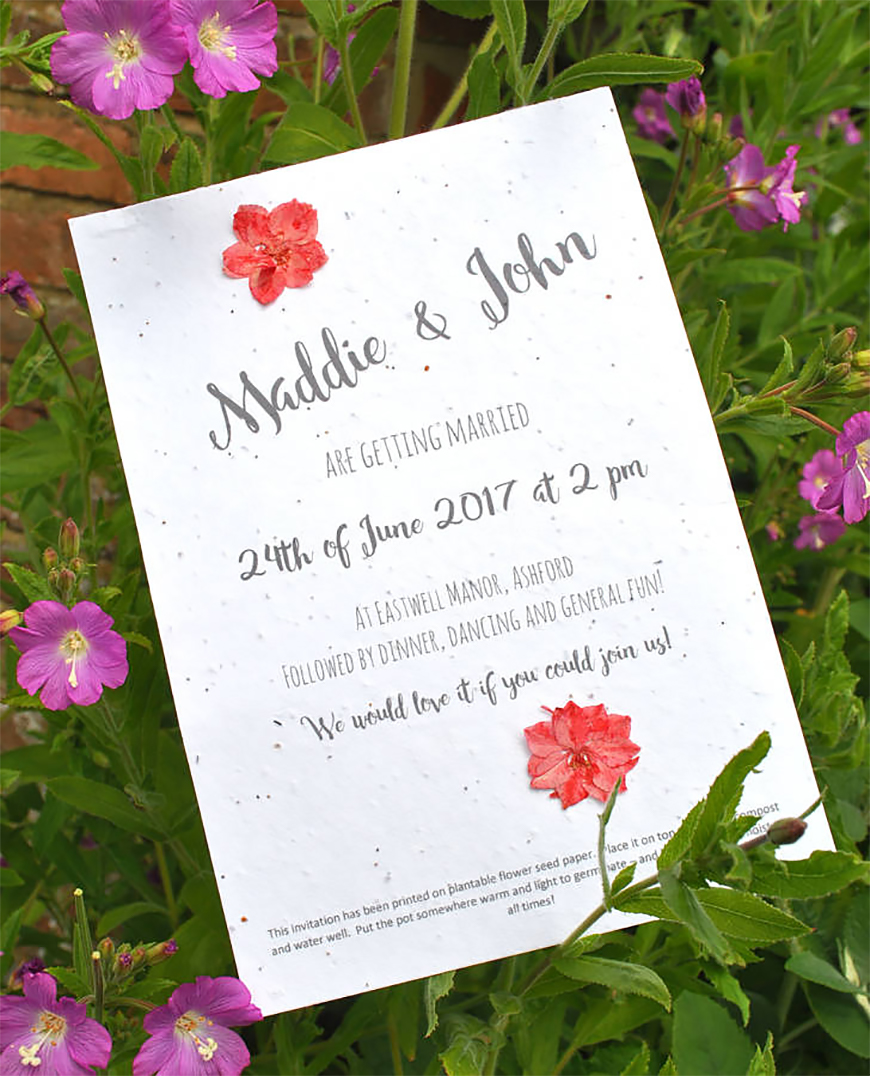 A Guide To Green Weddings - Go paper free | CHWV