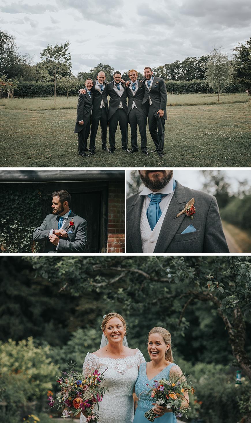 Real Wedding - Abi and David's Romantic Summer Wedding at Clock Barn | CHWV