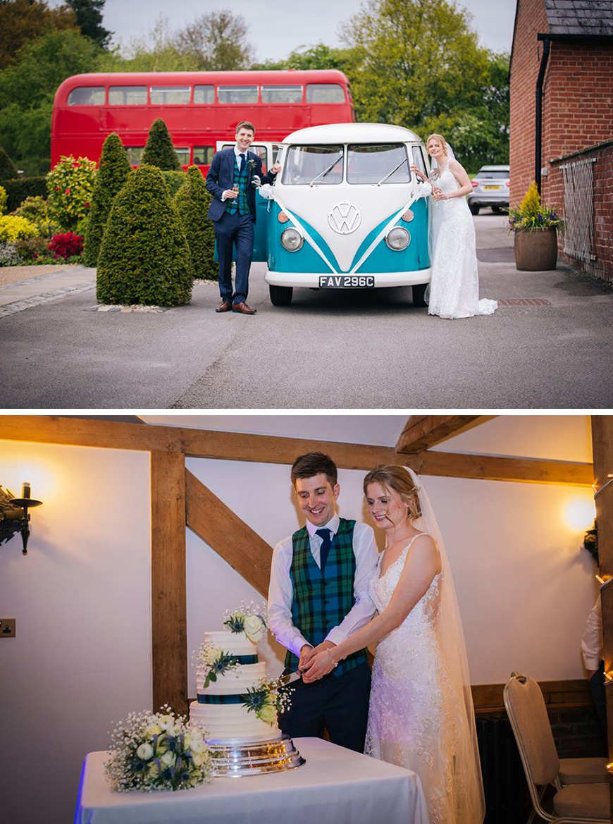 Real Wedding - Alison and Joseph's Spring Wedding At Sandhole Oak Barn | CHWV