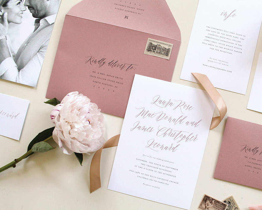 Wedding Ideas By Pantone Colour: Ash Rose - Details and decorations | CHWV