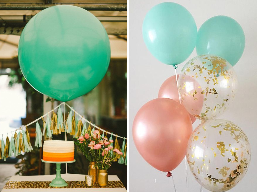 Neo Mint Green Wedding Ideas - Balloons | CHWV