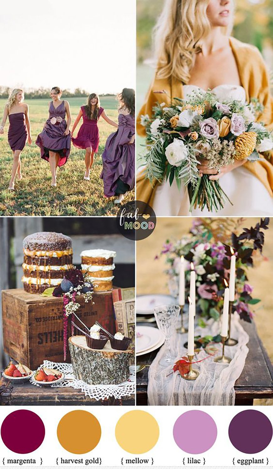 The Best Autumnal Wedding Colours - Yellow wedding ideas | CHWV
