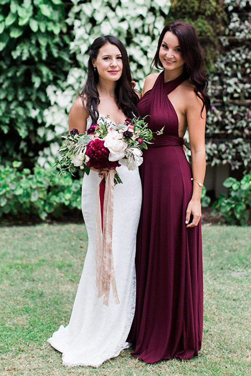 The best autumnal wedding colours chwv for Burgundy and gold wedding dress