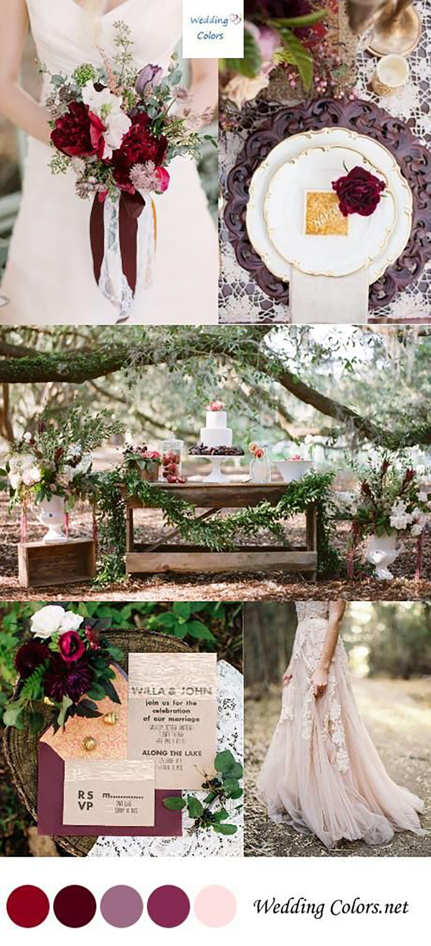 The Best Autumnal Wedding Colours - Red wedding ideas | CHWV