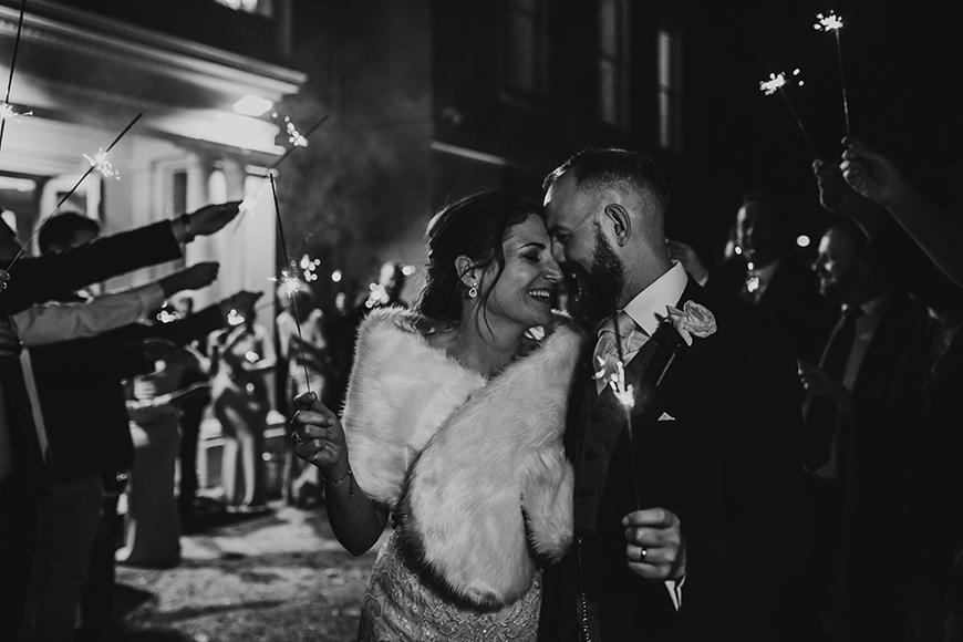 The Best Winter Wedding Ideas - Sparkler send off | CHWV