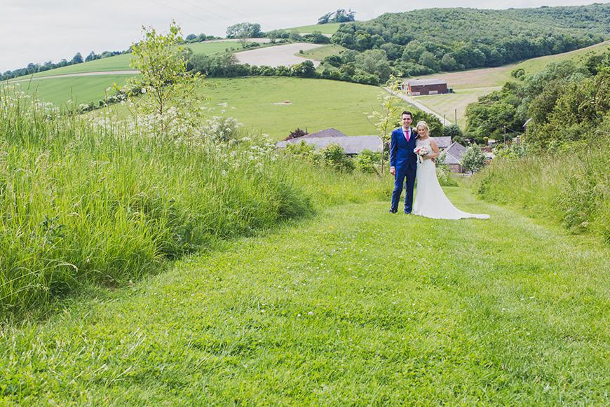 Real Wedding - Beth and James' Rustic Summer Wedding At Upwaltham Barns | CHWV