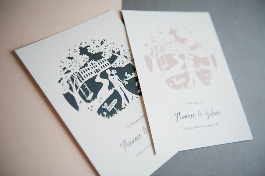Wedding Ideas By Colour: Black and White Wedding Invitations - All about white | CHWV