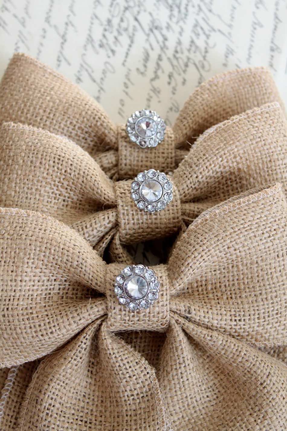 Bling up your barn wedding venue with your on the day wedding stationery