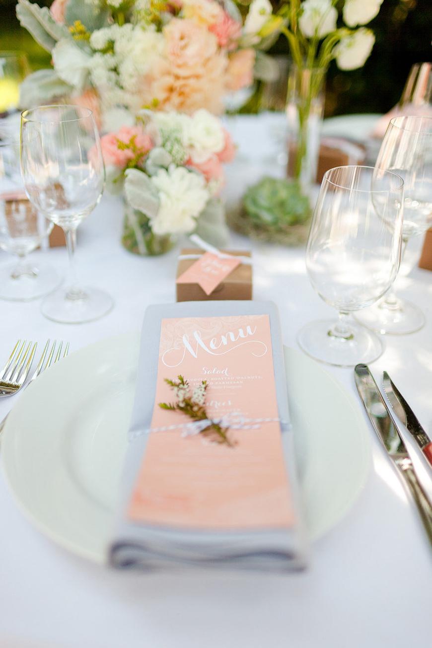 Wedding Ideas By Pantone Colour: Blooming Dahlia - Menu   CHWV