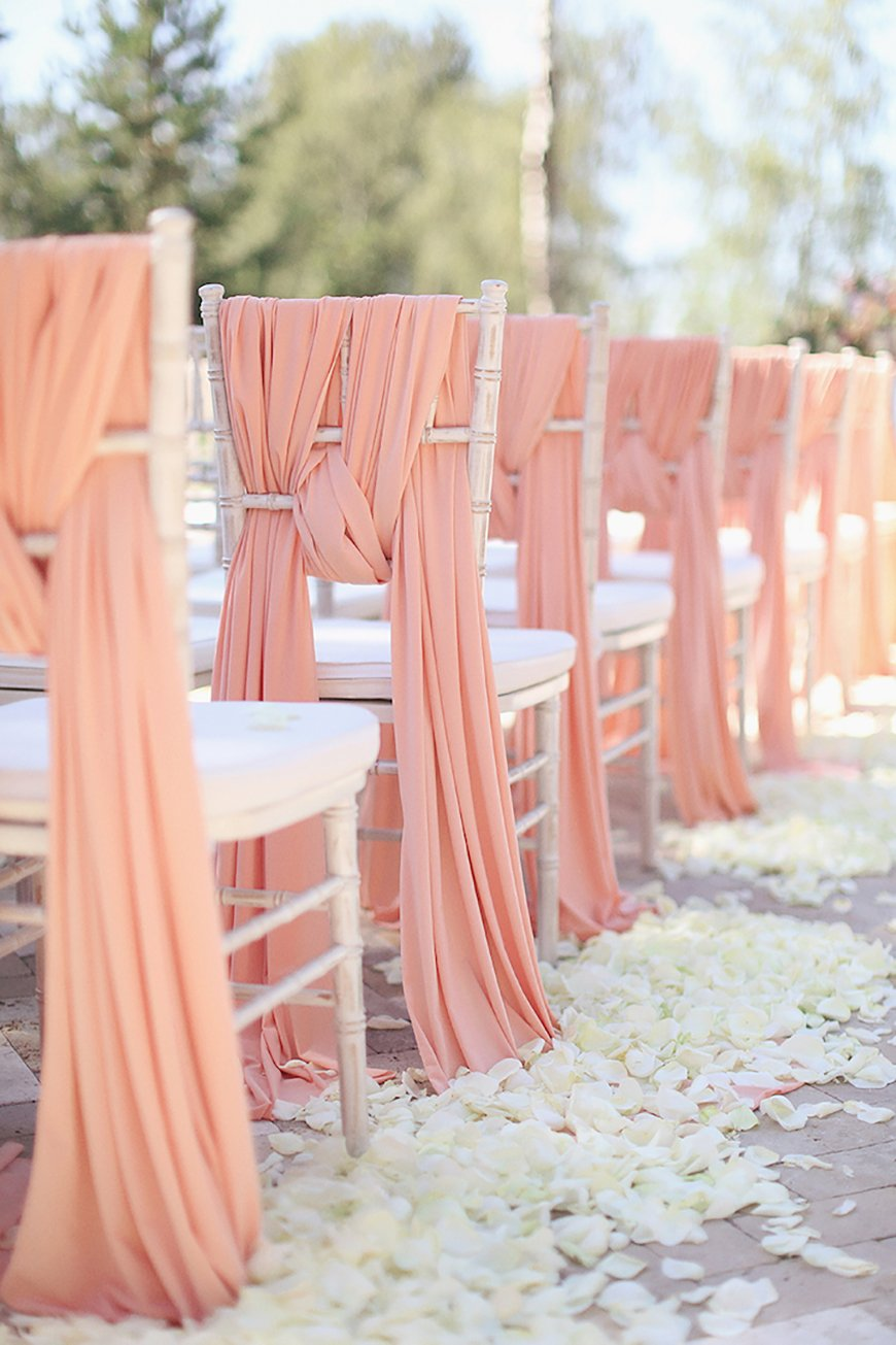 Wedding Ideas By Pantone Colour: Blooming Dahlia - Chair covers | CHWV