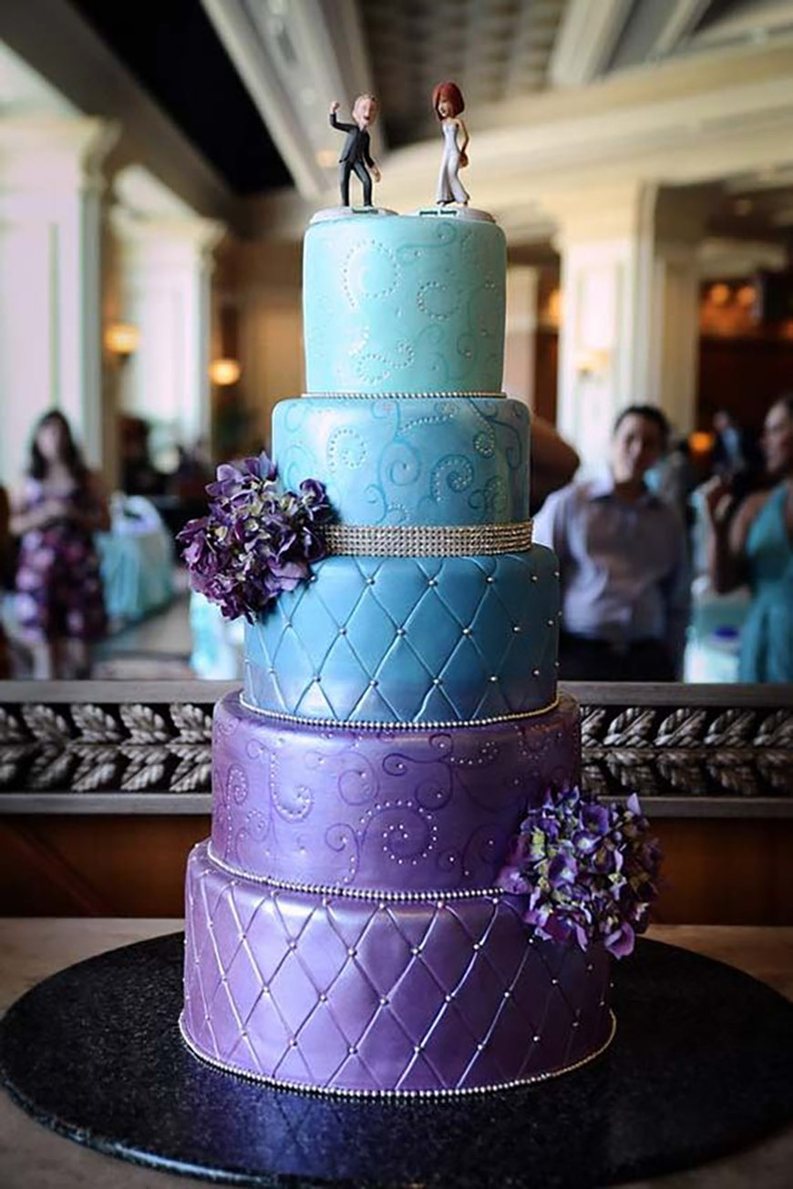 purple wedding cake decorations blue and purple colour scheme wedding ideas by colour chwv 18912
