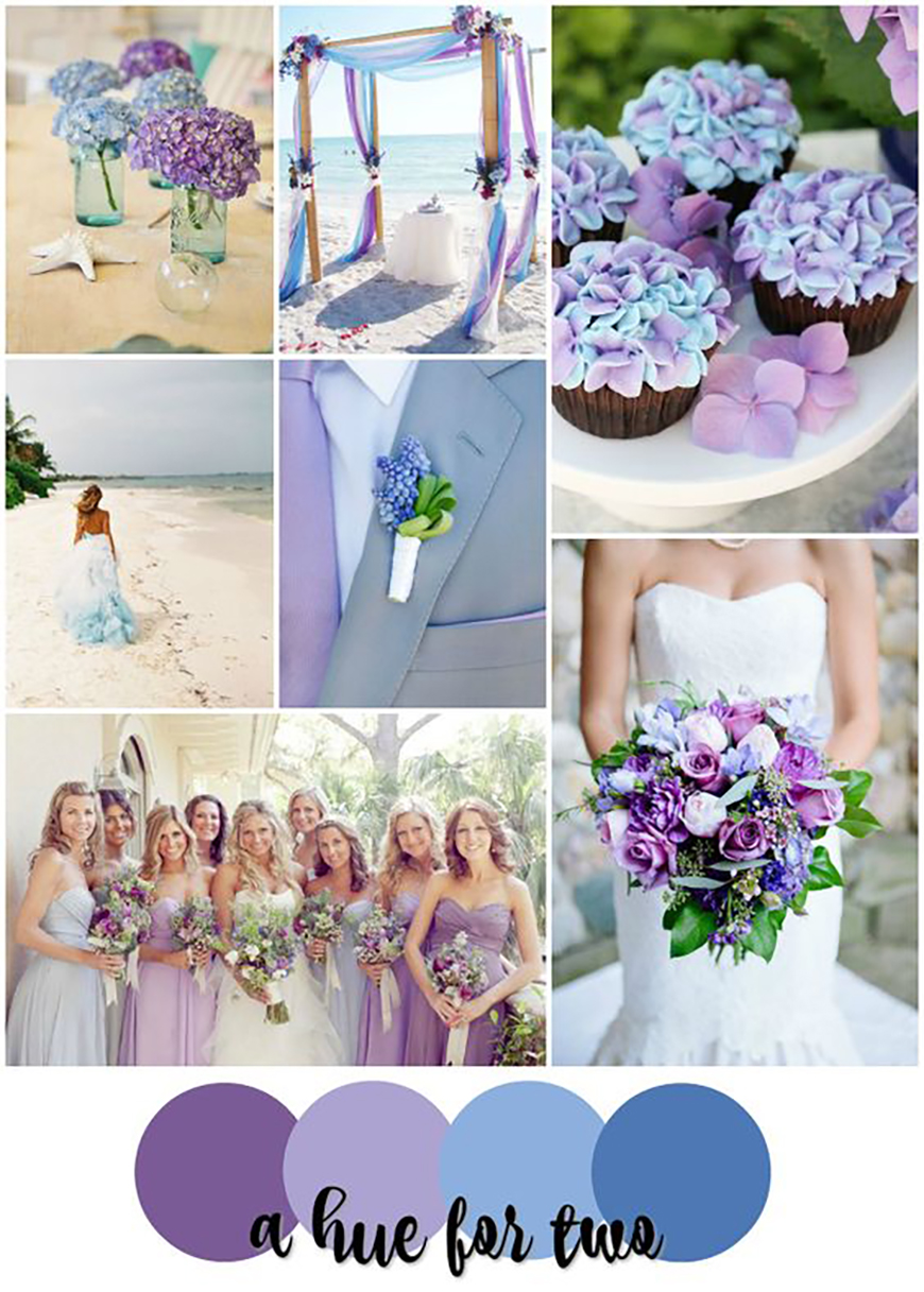 blue and purple colour scheme | wedding ideascolour | chwv
