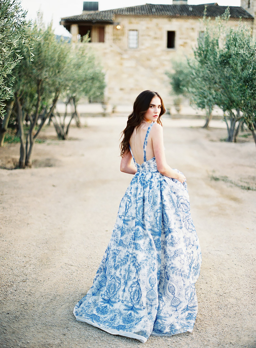 Wedding Ideas By Colour: Blue Wedding Dresses | CHWV