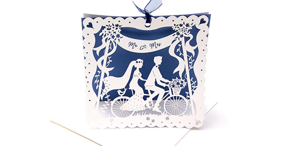 Wedding ideas by colour: Blue wedding invitations - Lazer cutting | CHWV