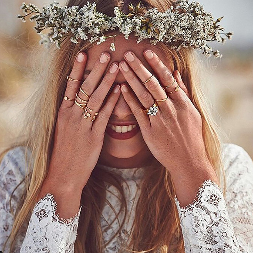 Selecting the perfect bohemian style wedding ring - Gems | CHWV
