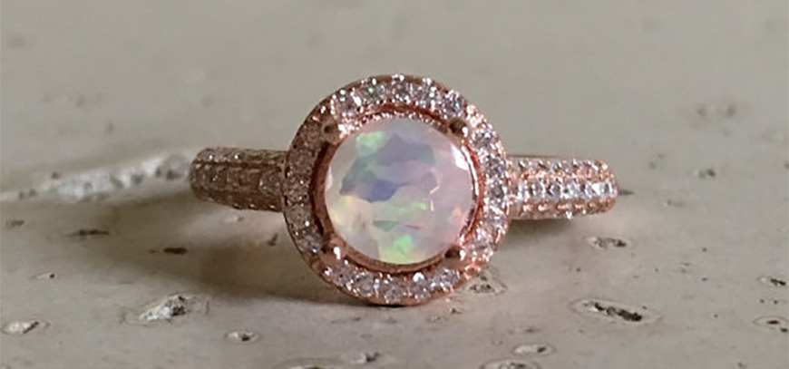 selecting the perfect bohemian style wedding ring opal chwv - Bohemian Wedding Rings