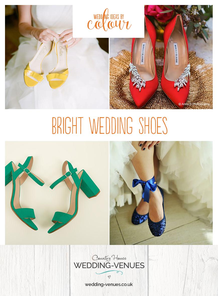 Wedding Ideas By Colour: Bright Wedding Shoes | CHWV