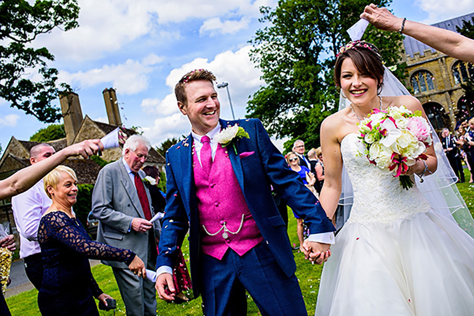 Real Wedding – A Raspberry and Lime-Themed Day in the Countryside