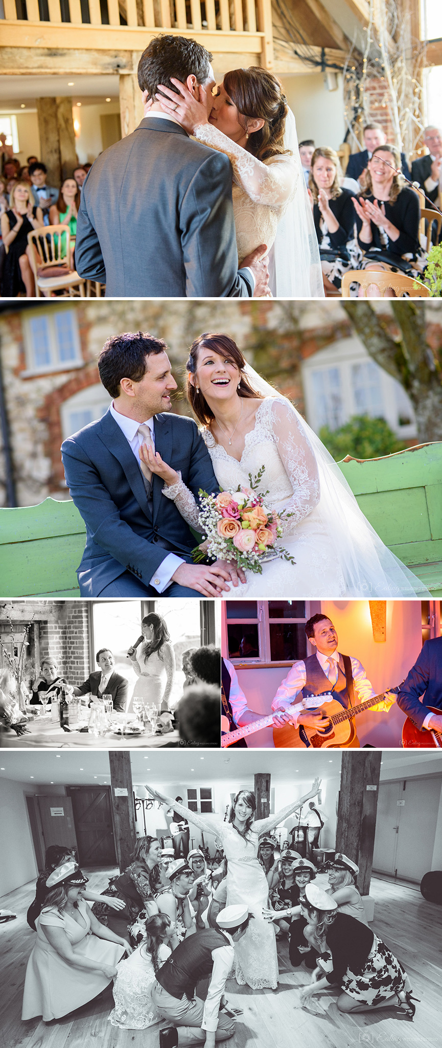 Real Wedding - Clare And Rohan's Handmade Spring Wedding At Bury Court Barn | CHWV