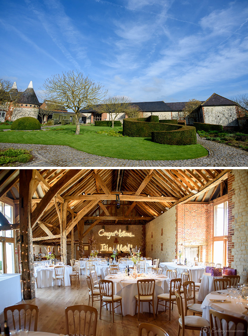 Real Wedding - Clare And Rohan's Handmade Spring Wedding At Bury Court Barn