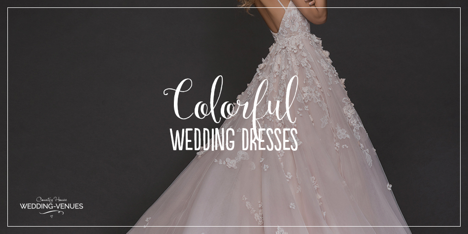 Tradition has it that brides will be a vision in white on their wedding day. But even with white there is a spectrum: bright white, ivory, champagne… Why not ramp up the colour even more and try one of these 15 colourful wedding dresses from some of the biggest in bridal?