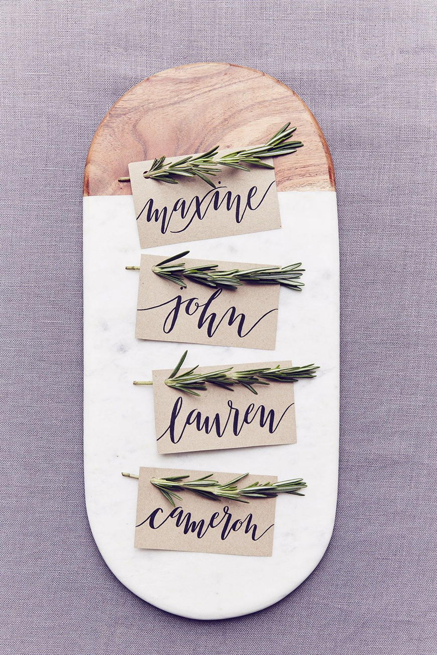 The Coolest Winter Wedding Ideas - Pared-back place settings | CHWV