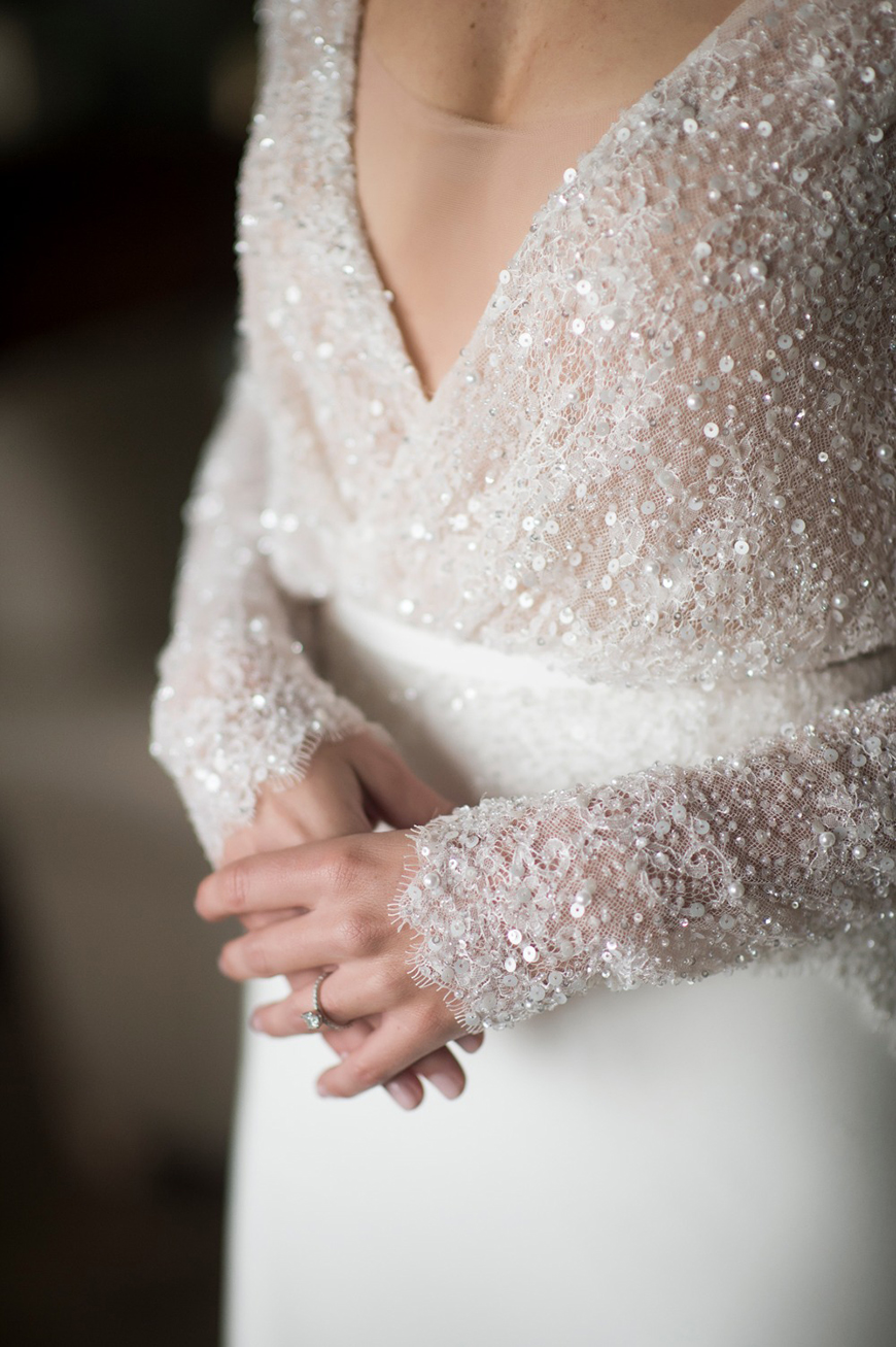 The Coolest Winter Wedding Ideas - Glittering gowns | CHWV