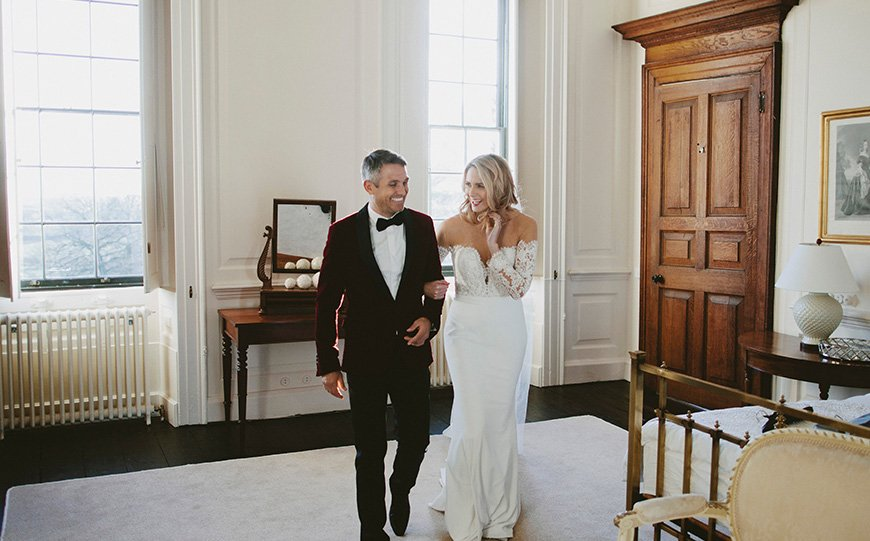 A Stunning Styled Shoot At Davenport House - Bride & Groom | CHWV