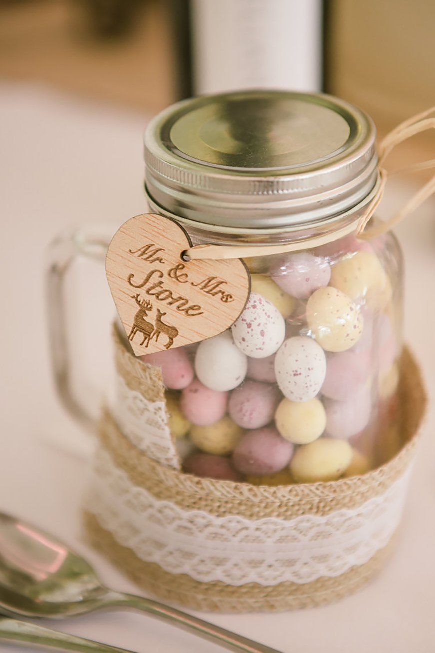 21 Cracking Easter Wedding Ideas - Mini egg jars | CHWV
