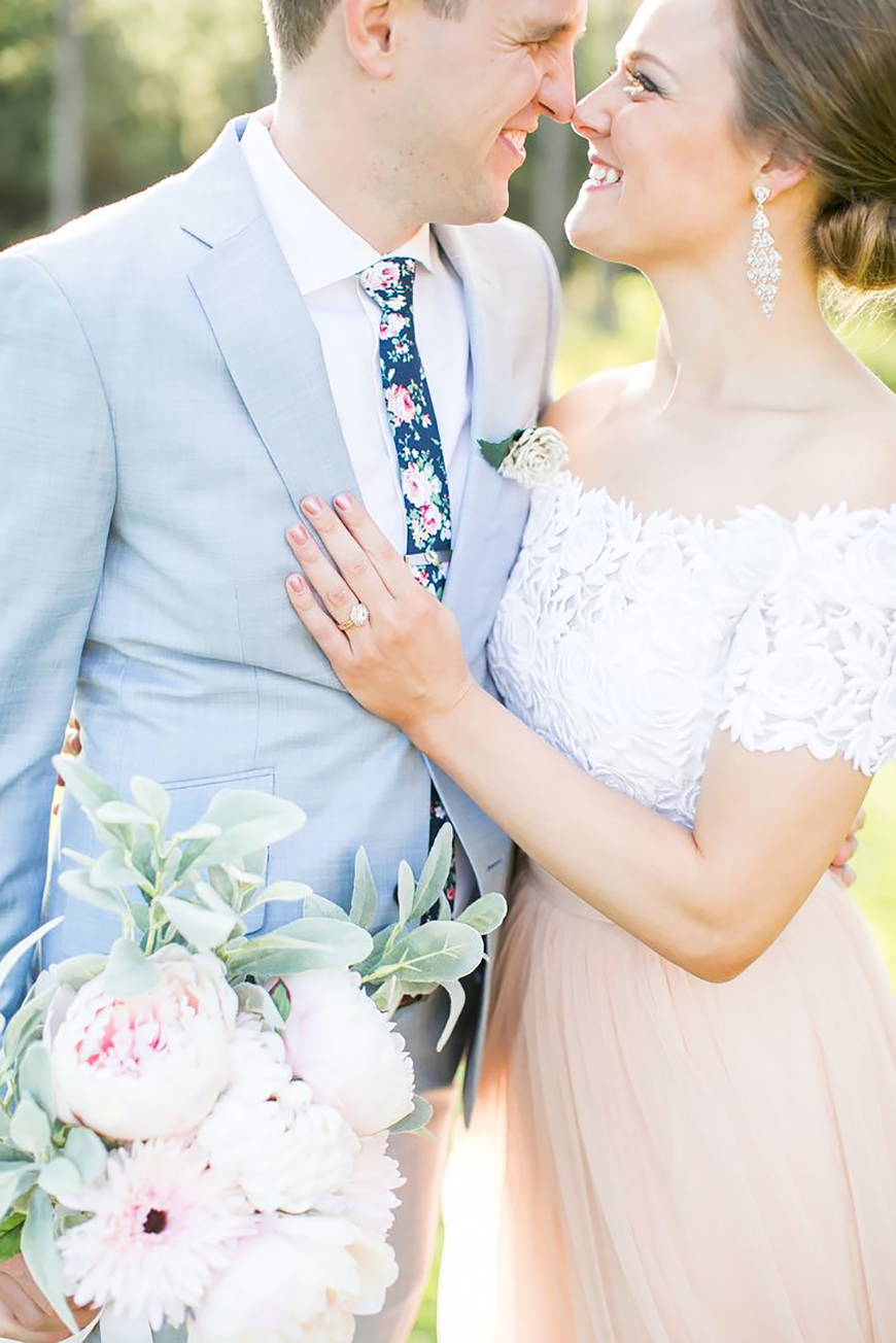 21 Cracking Easter Wedding Ideas - Powder blue suits | CHWV