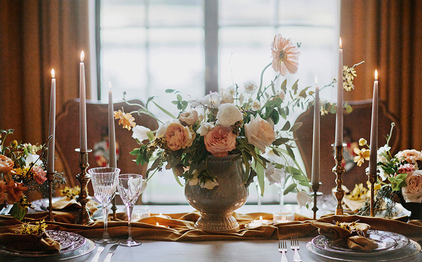 A Stunning Styled Shoot At Davenport House - Flowers | CHWV