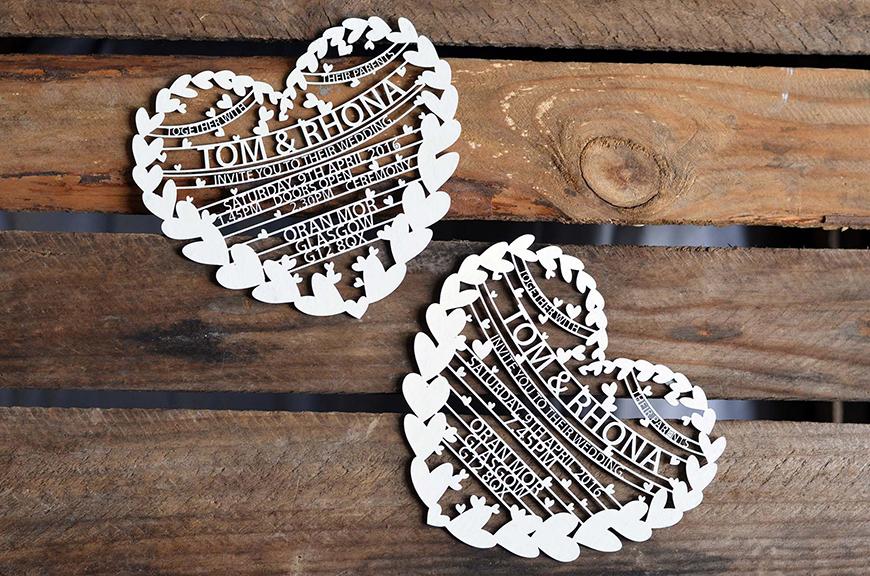 DIY Wedding Invitations - Paper-cut pretty | CHWV