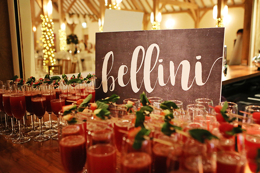 How To Mix Up Your Wedding Reception With Drinks Stations - Bellini bar | CHWV