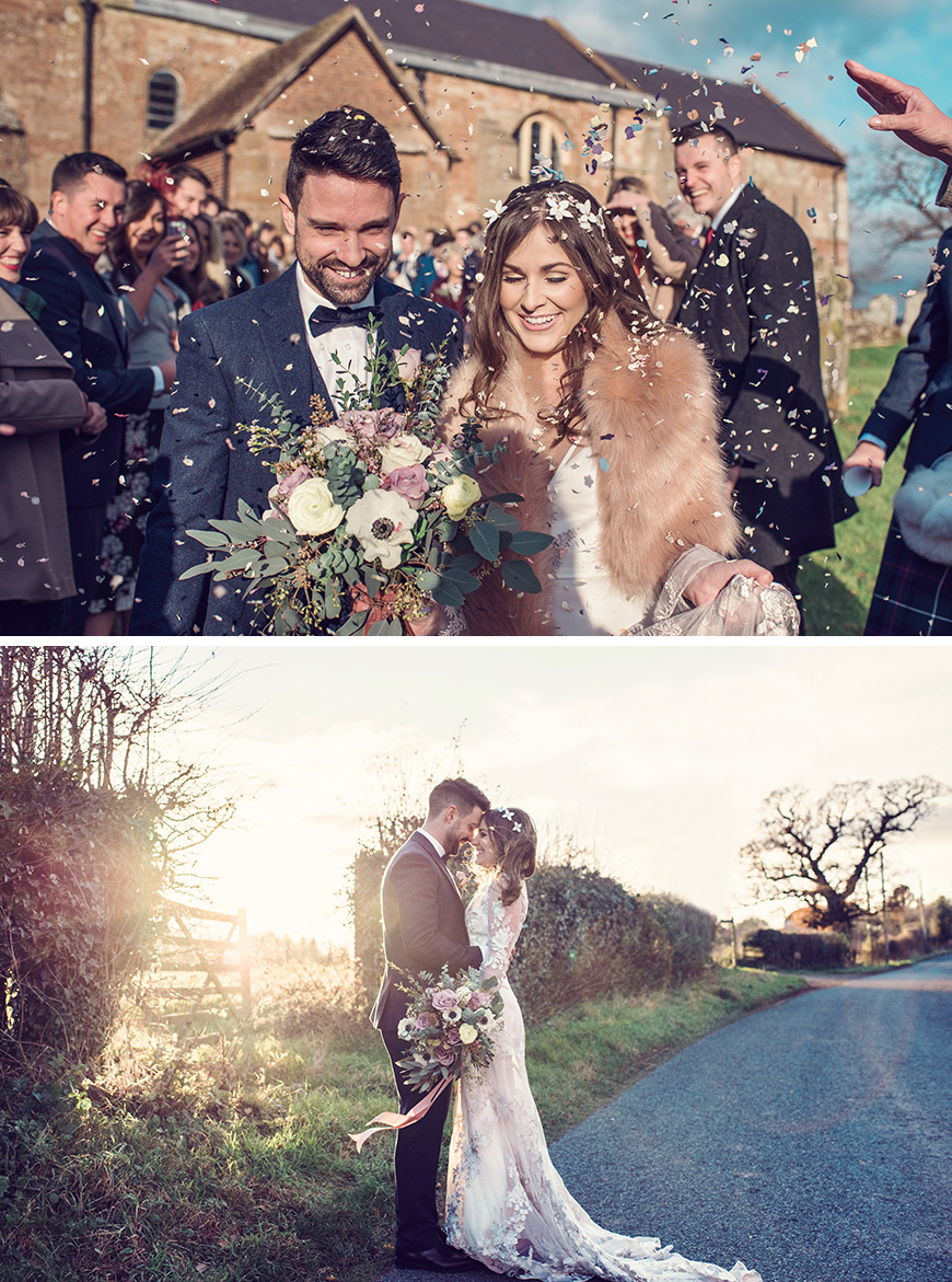 Real Wedding - Ellie & Rob's Relaxed Winter Wedding at Curradine Barns | CHWV