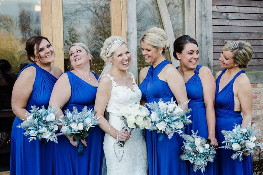 Emma and Danny at Mythe Barn - Bridesmaids | CHWV