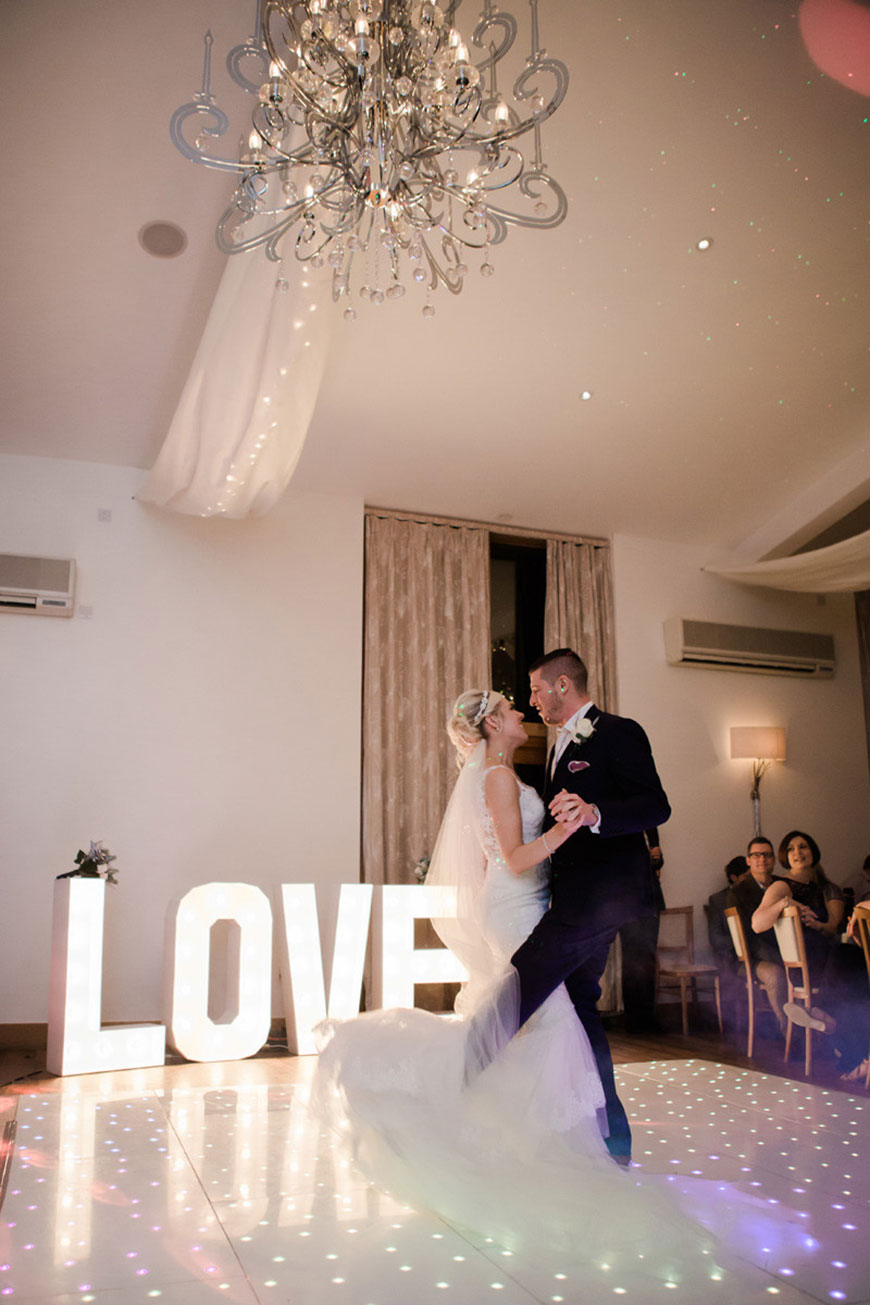 Emma and Danny at Mythe Barn - First dance | CHWV