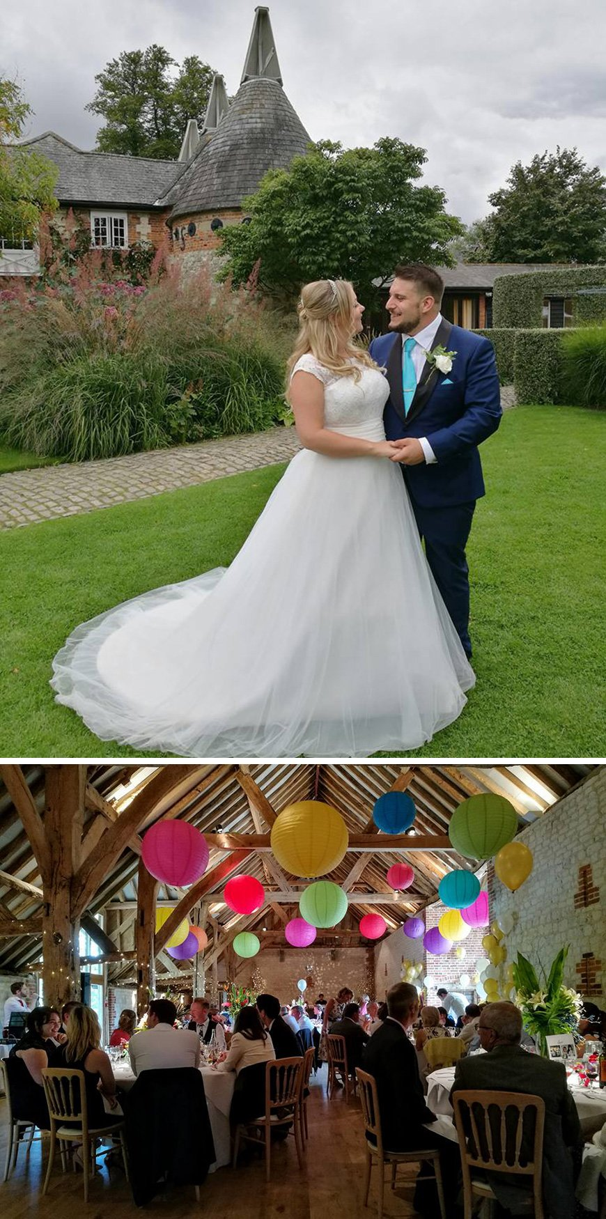 Real Wedding - Emma and Pete's Colourful Summer Wedding at Bury Court Barn | CHWV