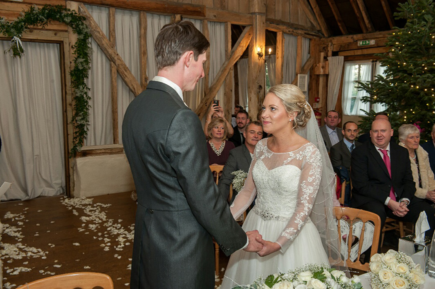 A Subtle Winter Wedding at Clock Barn for Emma and Shane - The ceremony | CHWV