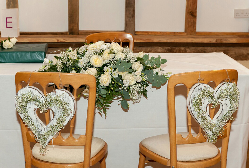 A Subtle Winter Wedding at Clock Barn for Emma and Shane - Ceremony chairs | CHWV