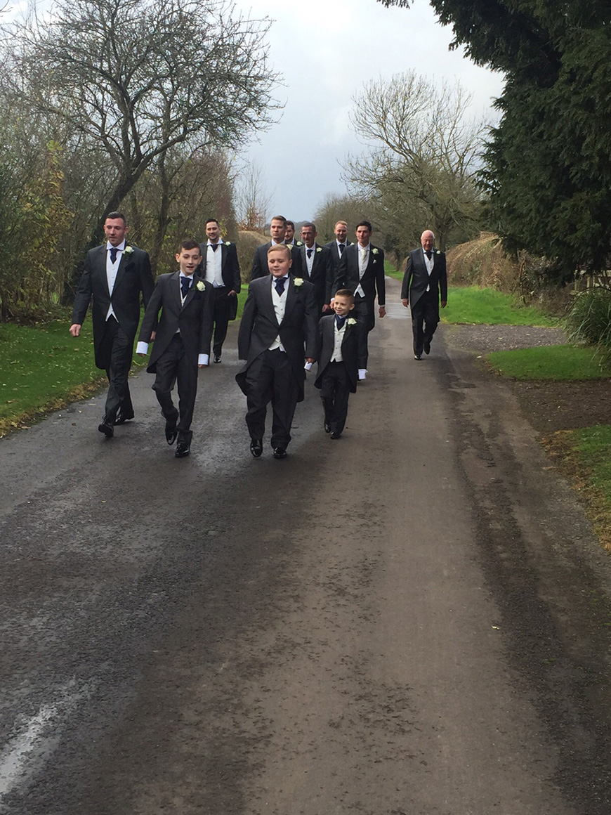 A Subtle Winter Wedding at Clock Barn for Emma and Shane - The groomsmen | CHWV